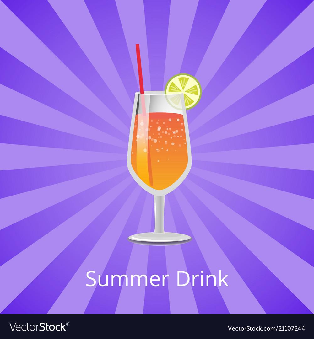 Summer drink orange or grapefruit juice and vodka
