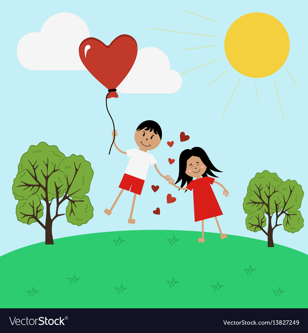 Boy and girl in love