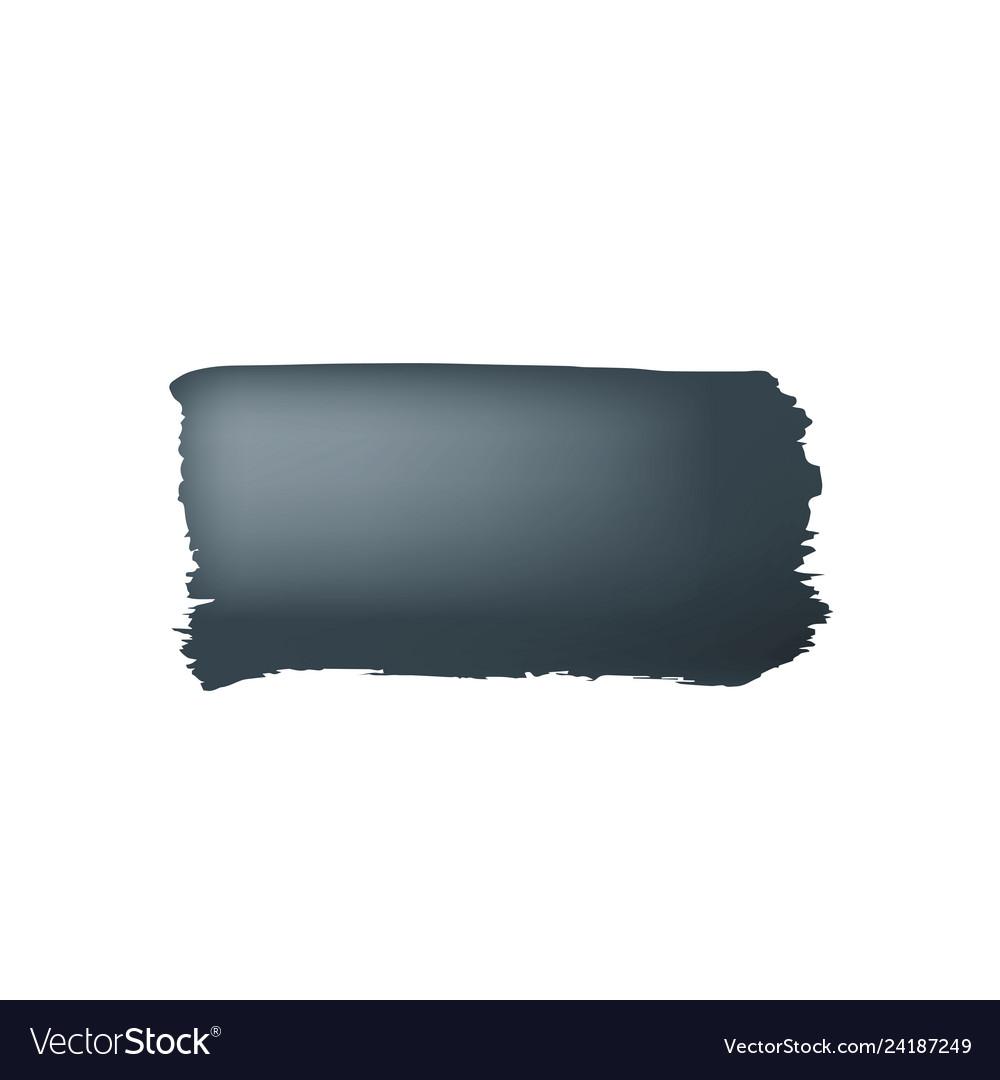 Brush stroke of black paint on white background
