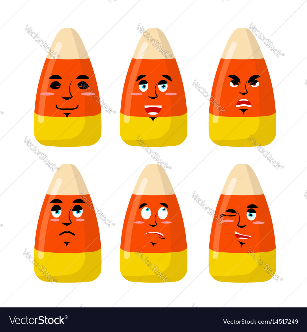 Corn candy emotions sweets evil and good bonbon
