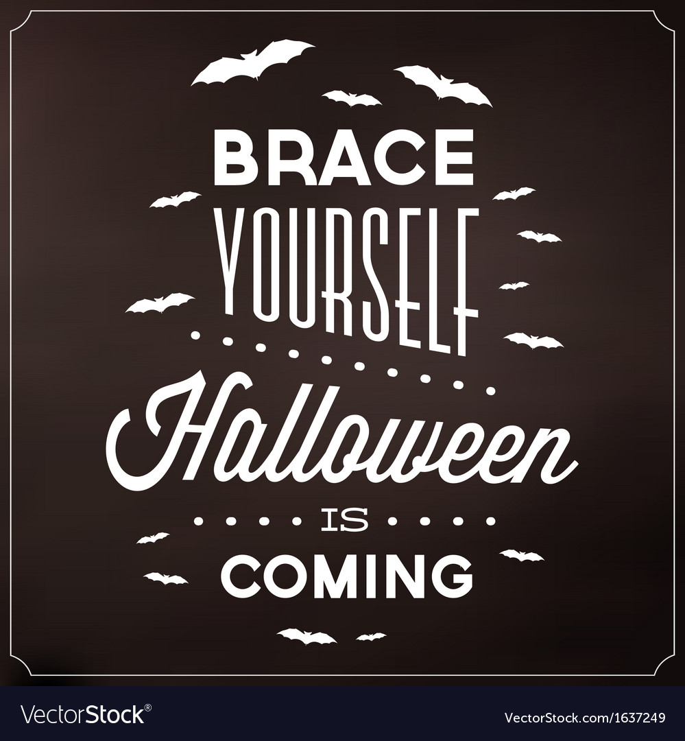 halloween typographic template royalty free vector image