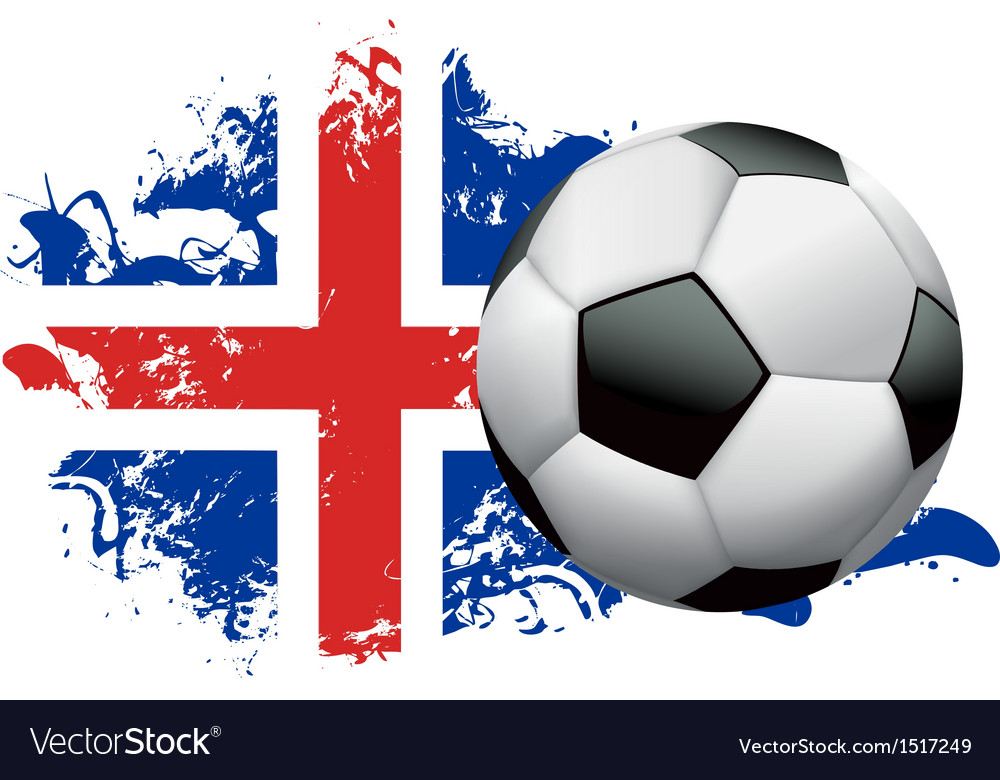 Iceland Soccer Grunge vector image