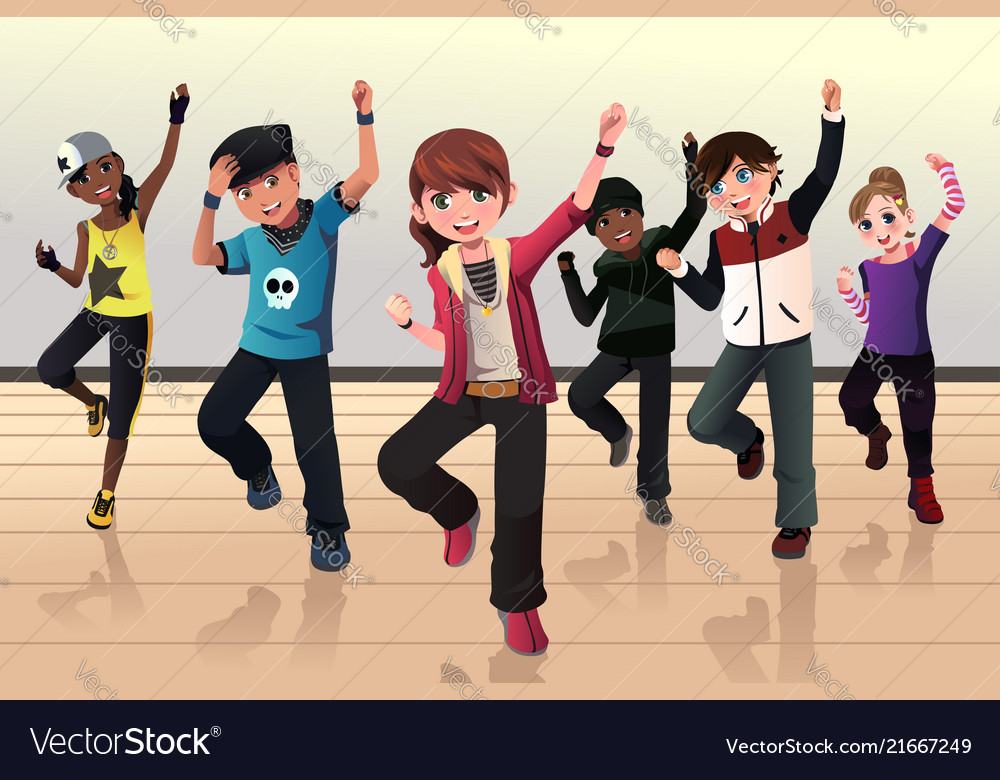 Kids in hip hop dance class