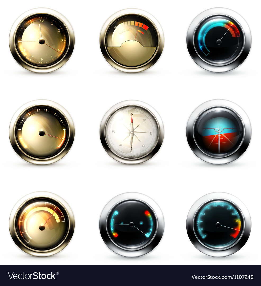 Measuring Devices set vector image