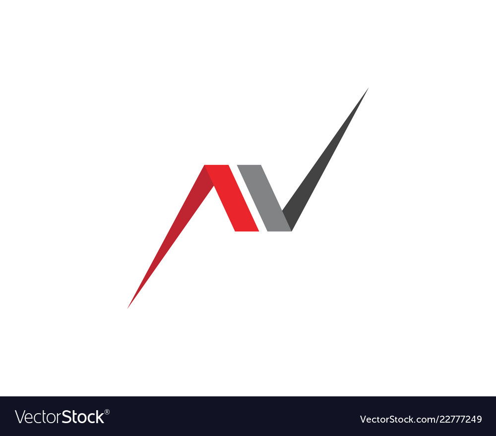 n letter logo template icon royalty free vector image