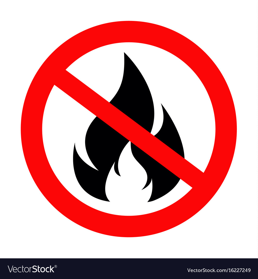 No fire sing icon