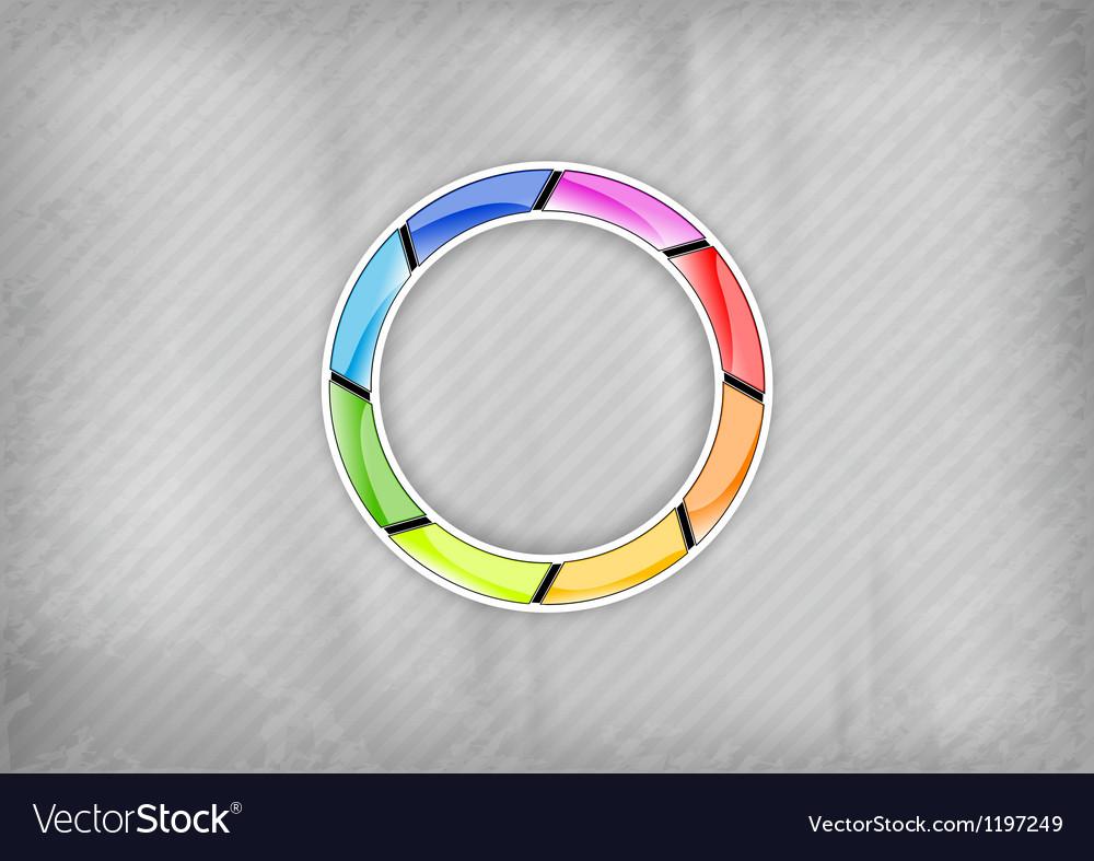 Rainbow circle vector image