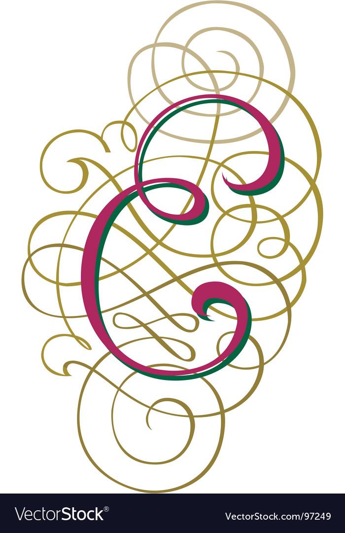Script letter e