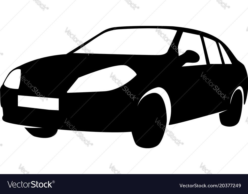 Sedan-silhouette vector image