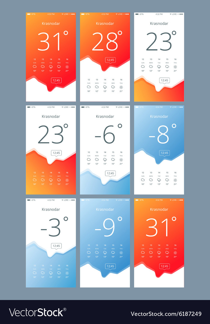 Set phone interface with the weather