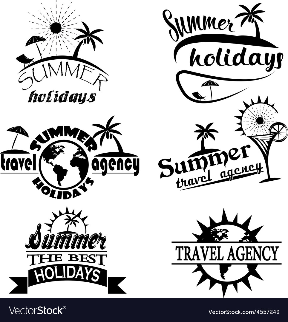 Vintage summer typography design with labels icon