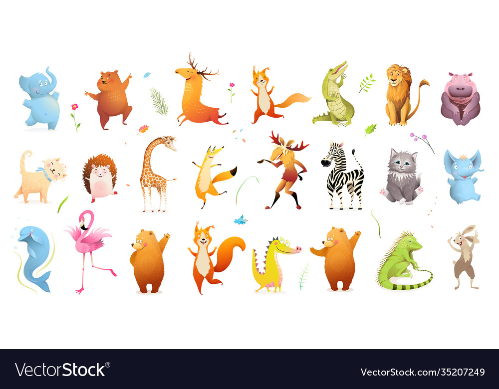 Wildlife for kids baby animals clipart collection