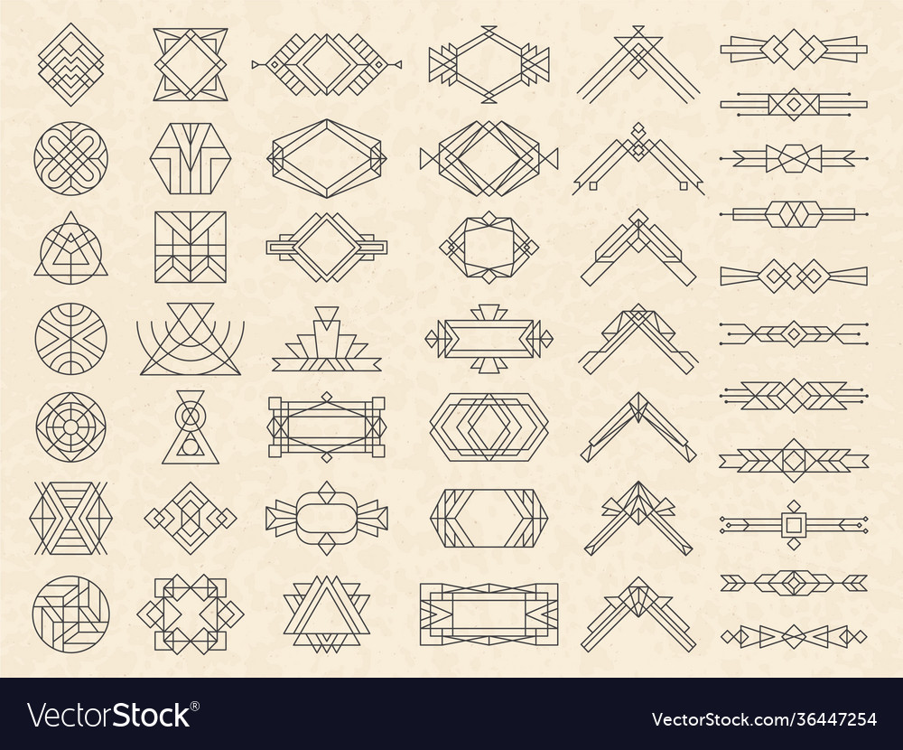 Art deco geometrical shapes modern design