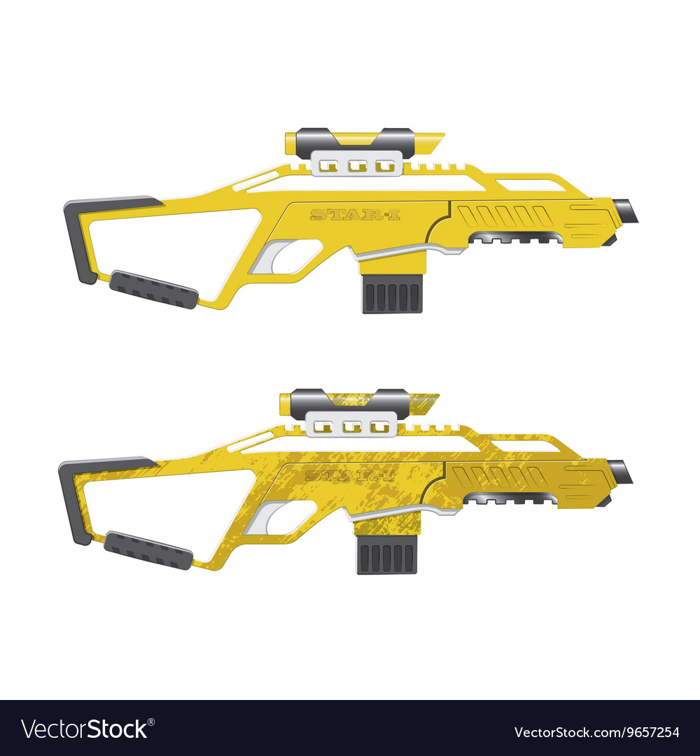 Assault rifle in cartoon style Games weapon vector image