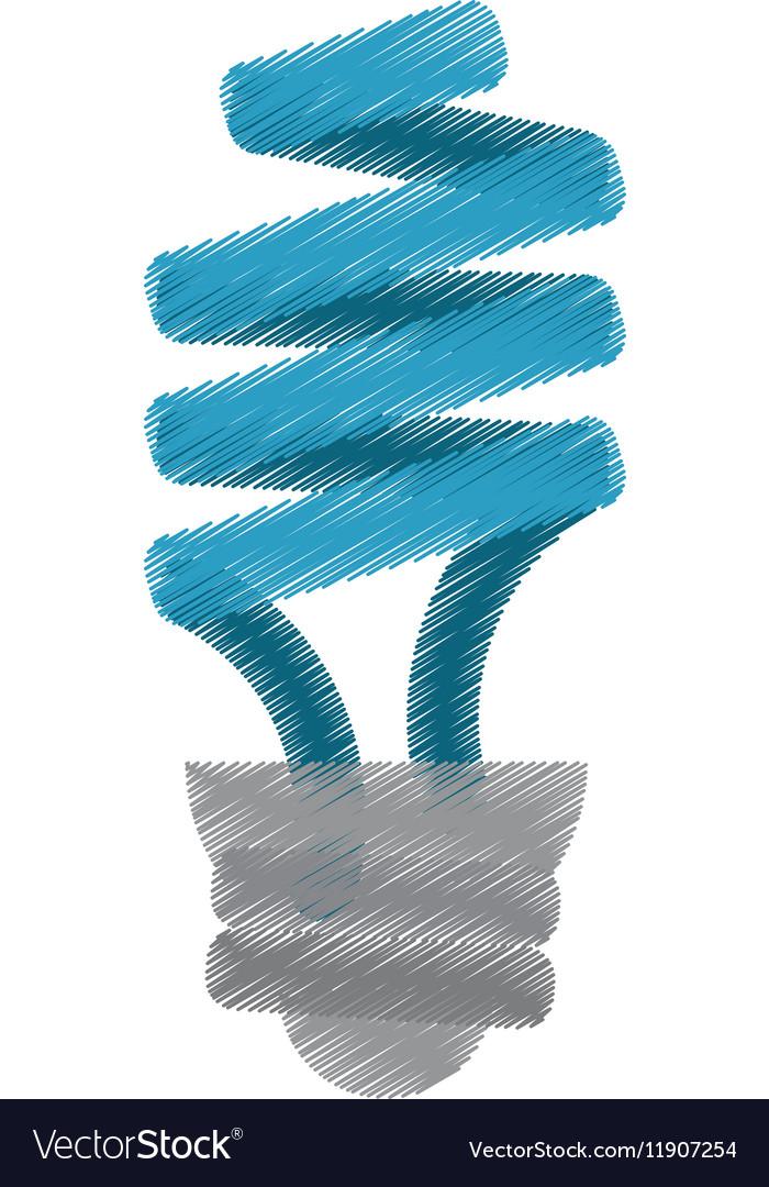 Blue energy saving lamp light bulb ed