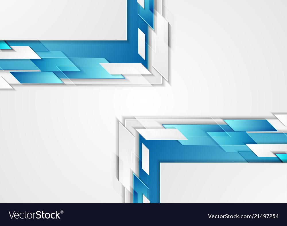 Bright blue tech corporate abstract background