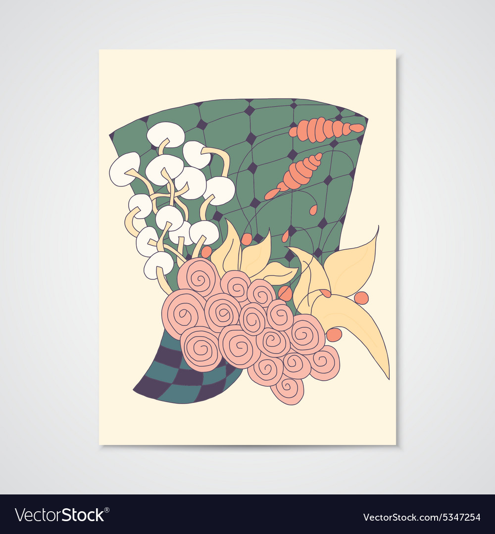 Card with abstract floral pattern
