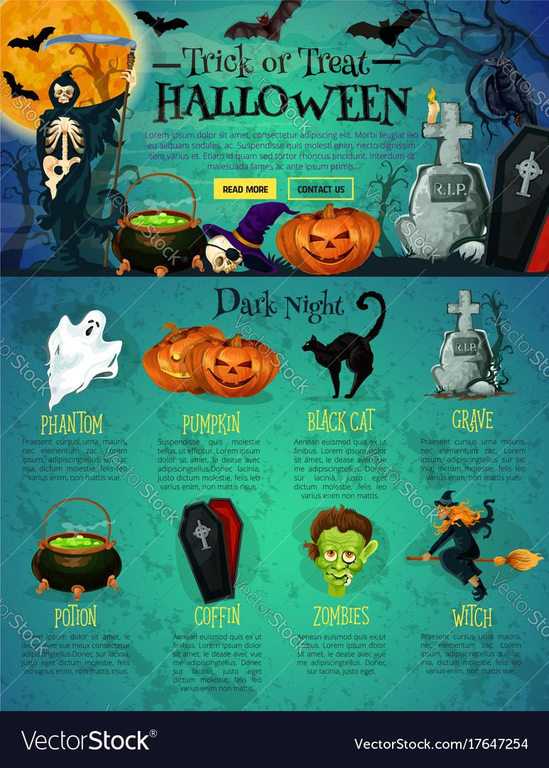 Halloween Landing Page Template For Website Design