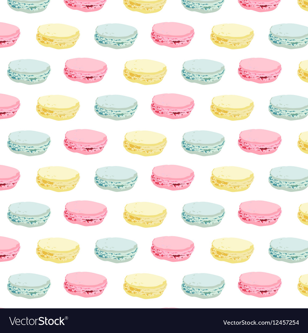 Macaroons colorful pattern