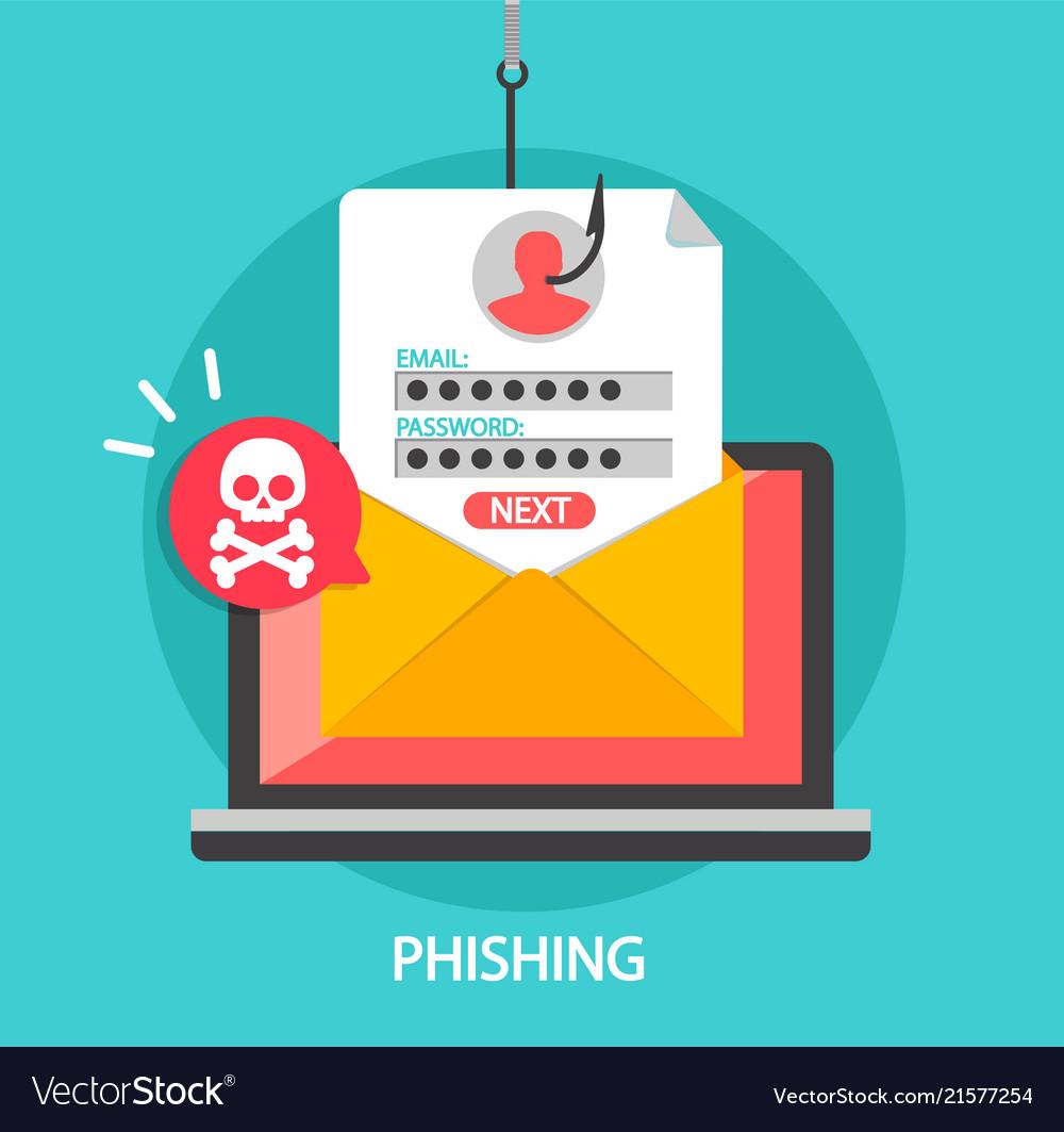Phishing login and password on fishing hook