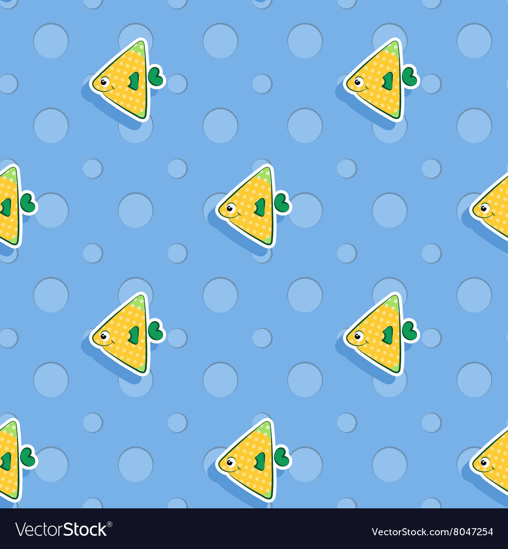 Seamless sea pattern with smiling