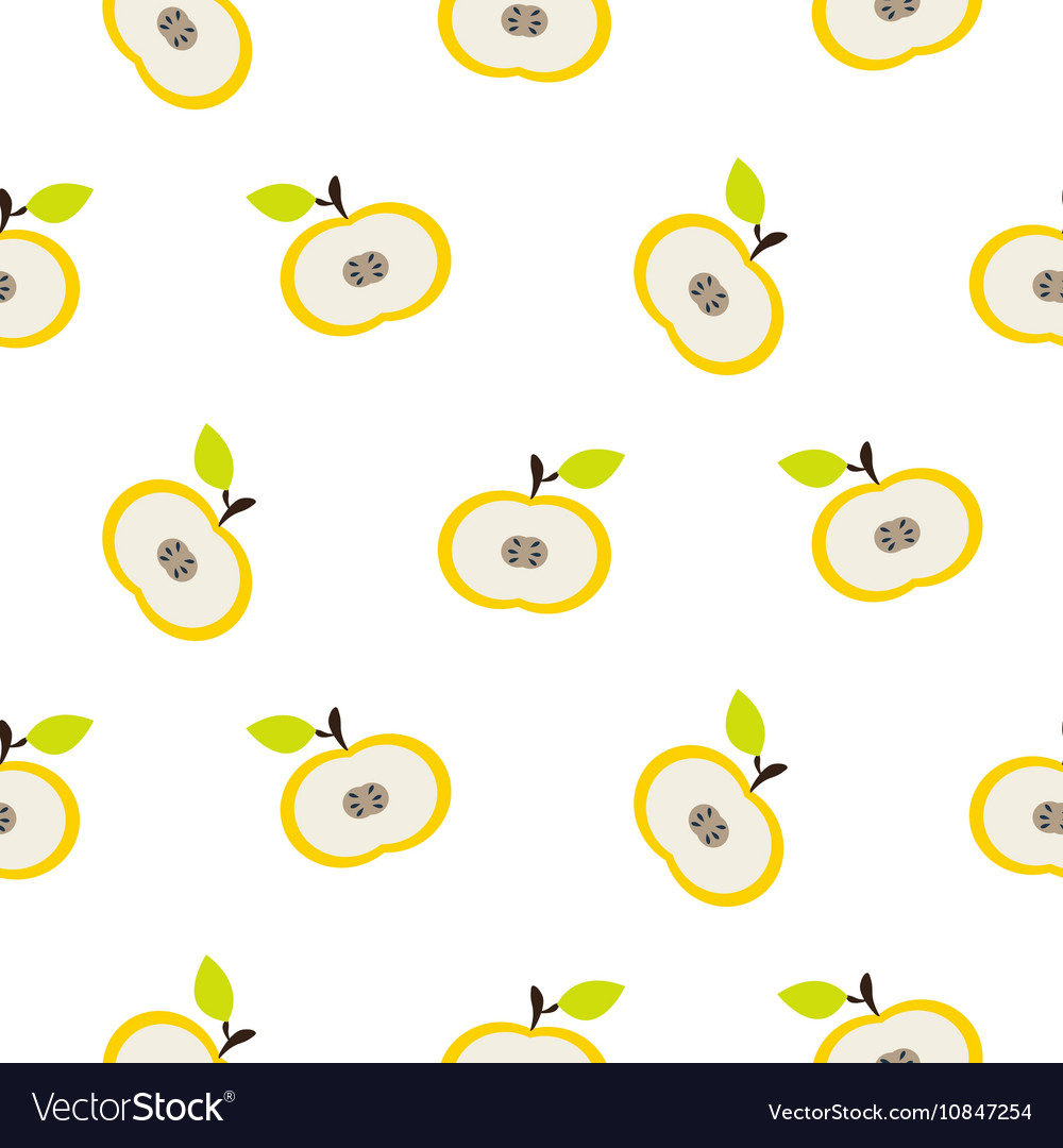 Simple apple fruit repeating pattern