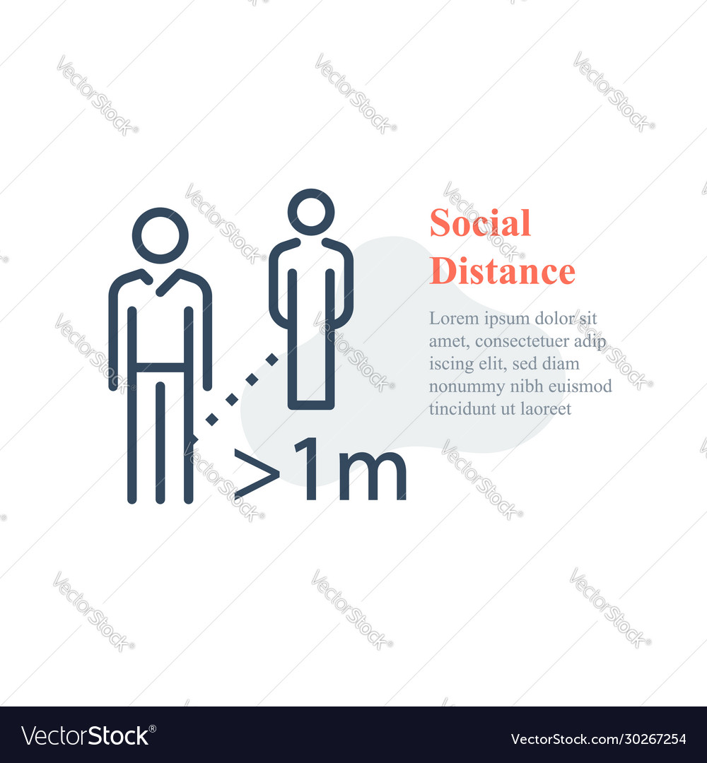 Social distance keep away avoid contact