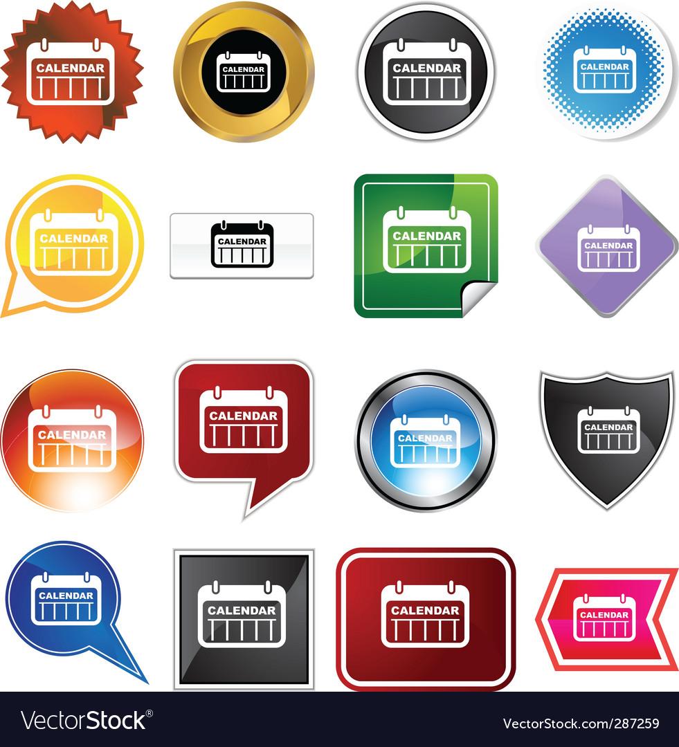 free calendar icon vector. Calendar Icon Set Vector
