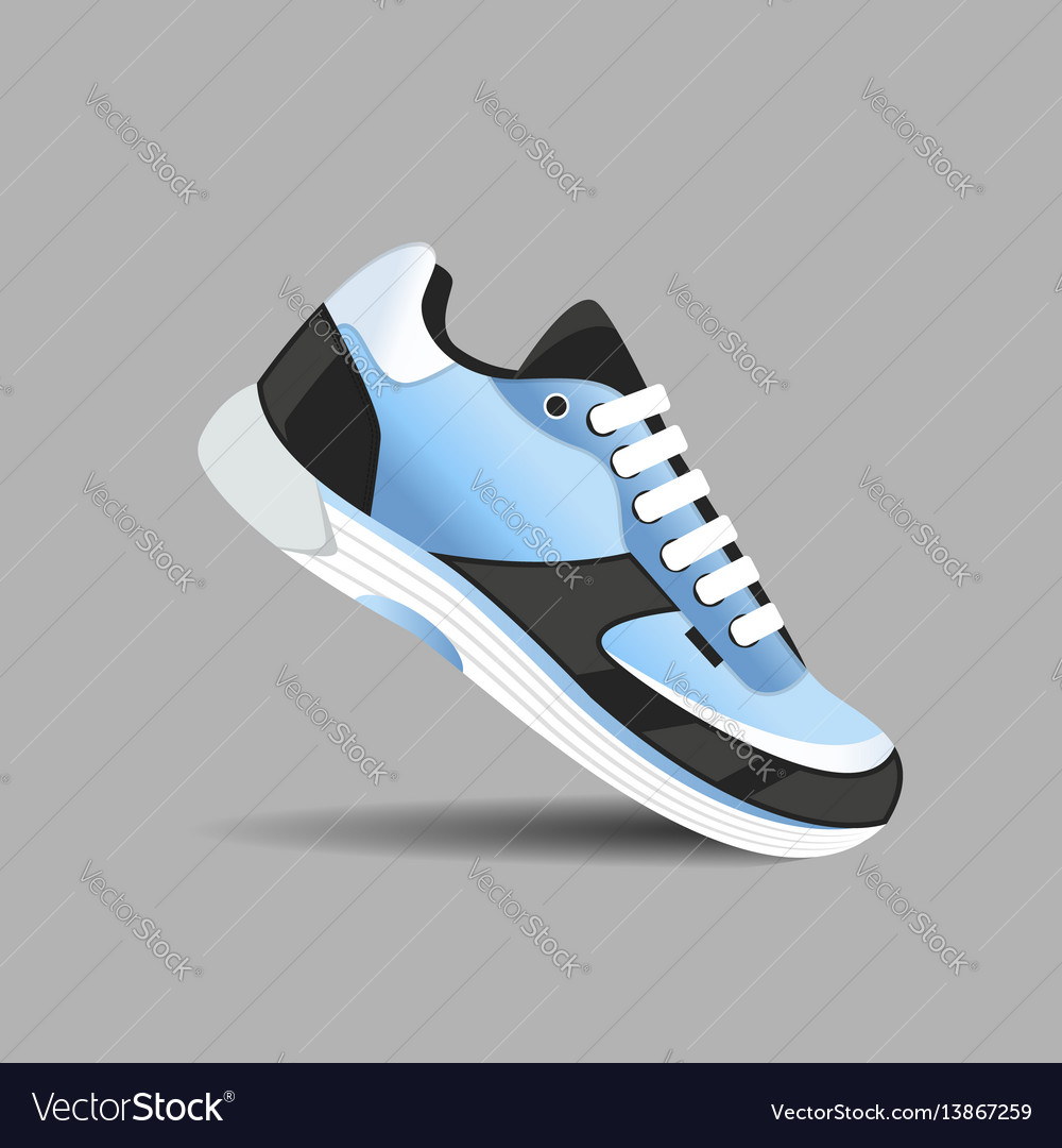 Fitness sneakers shoes for training running shoe vector image