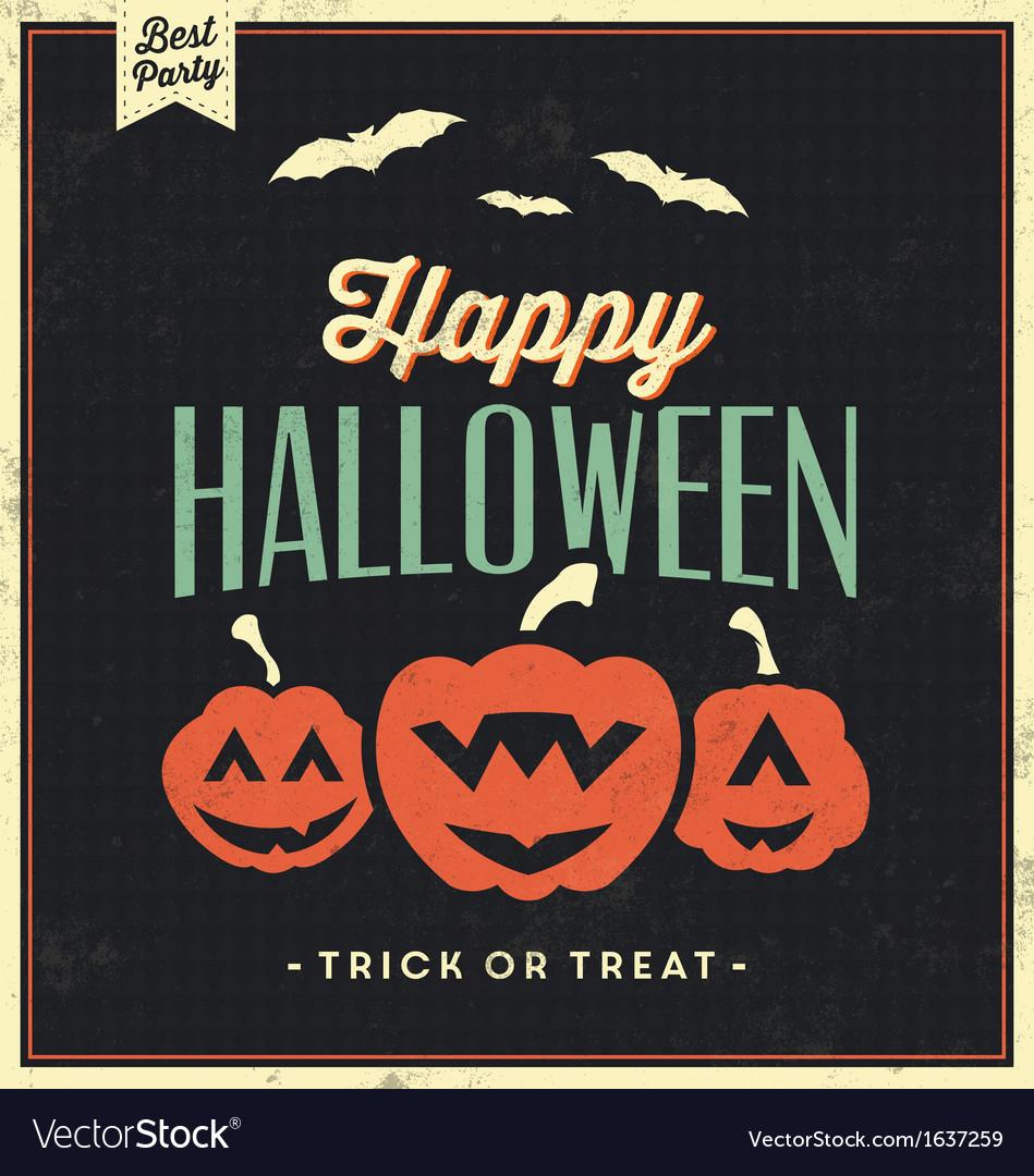 Happy Halloween Vintage Typographic Template