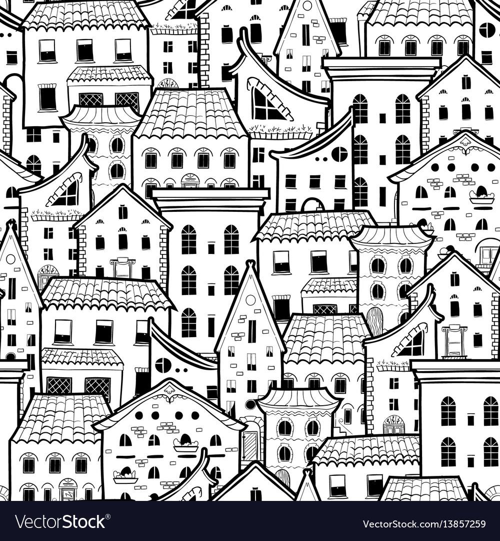 Houses new pattern monochrome 2