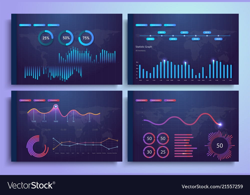 Infographic template with flat design statistics