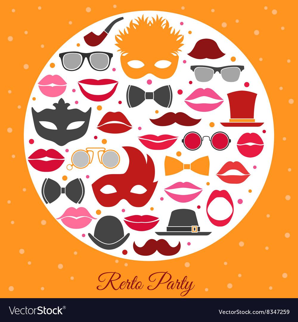 retro party invitation royalty free vector image