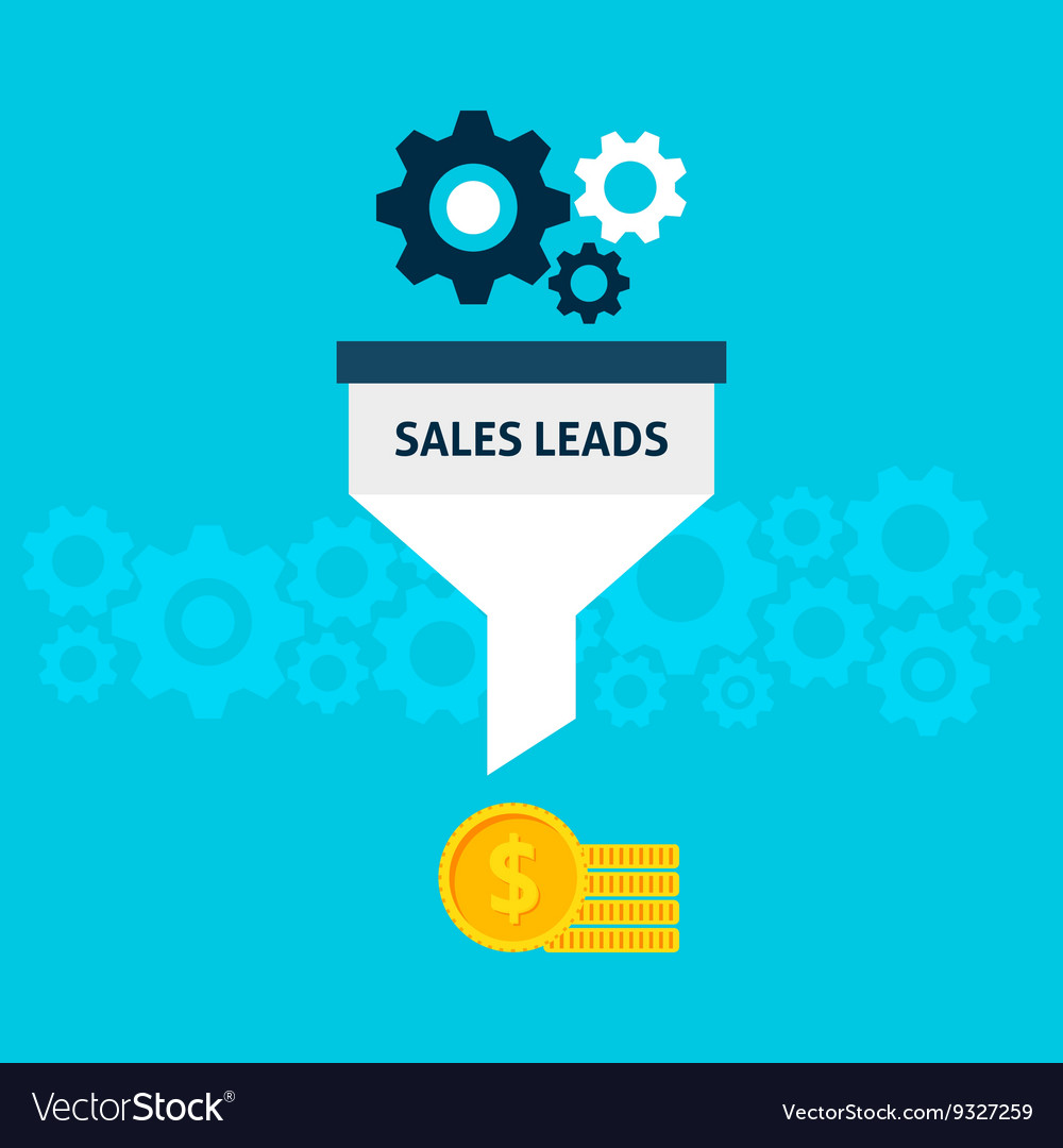 sales leads flat concept royalty free vector image