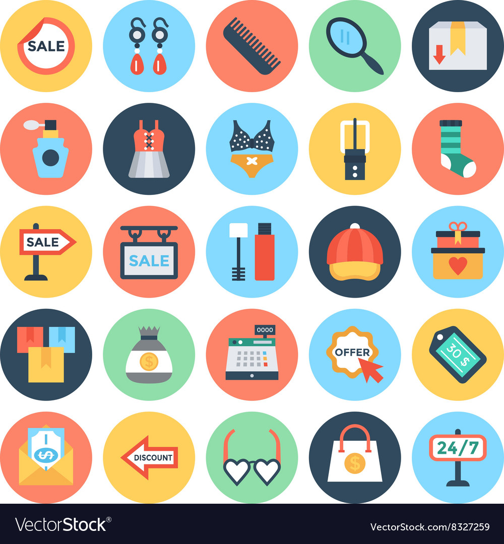 Shopping and E Commerce Icons 4 vector image