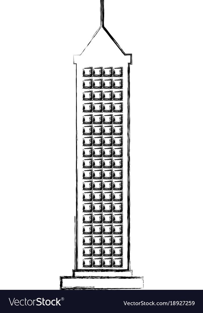 Skyscraper building isolated icon