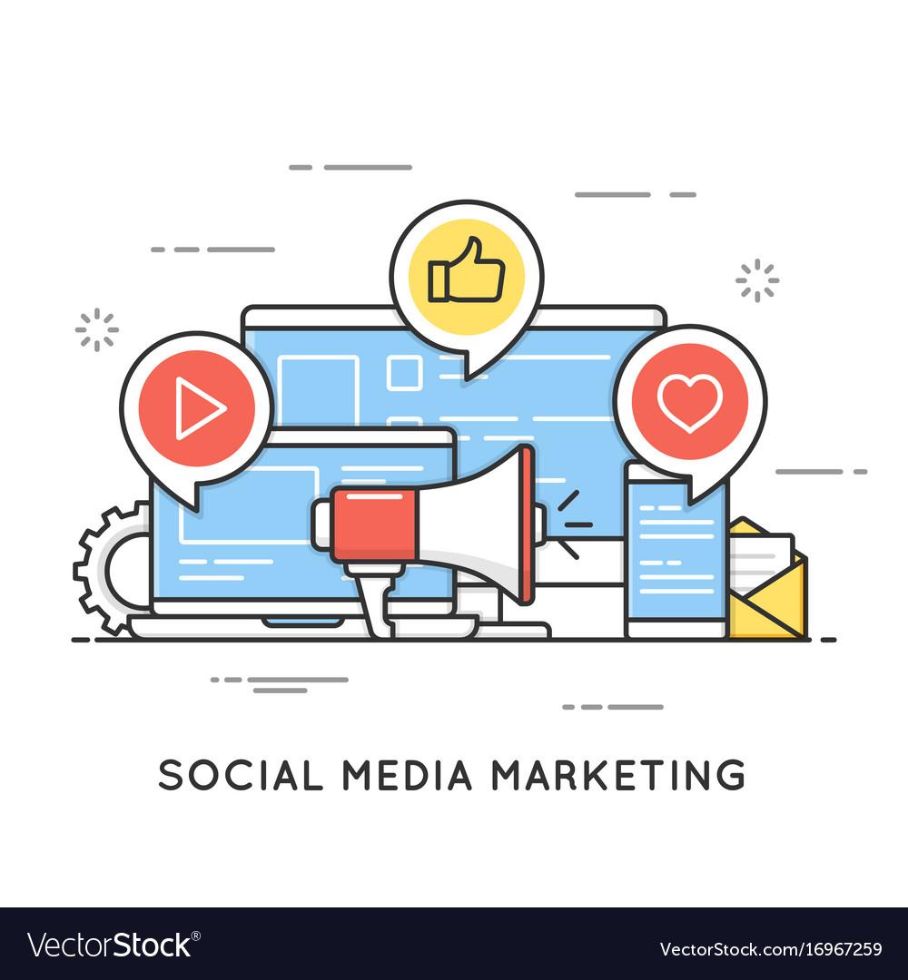 Social media marketing smm network communication