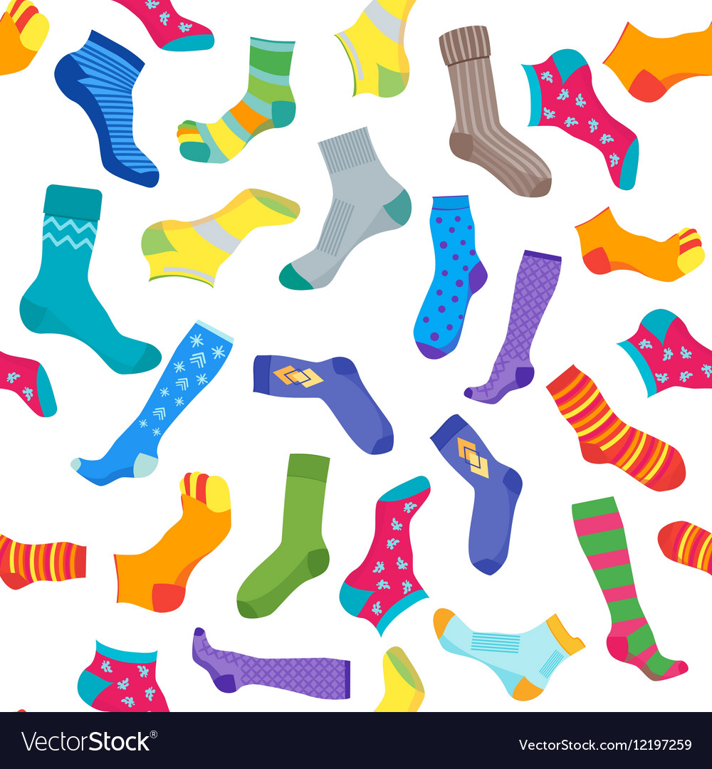 Socks Background Pattern vector image on VectorStock