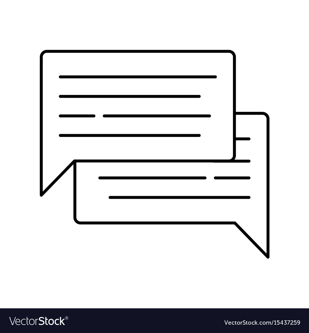 Speech bubble icon isolated on white background