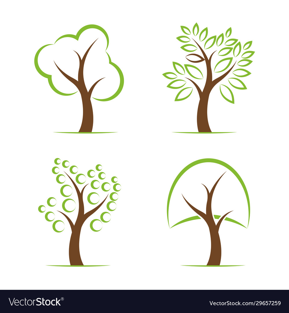 Tree design on white background easy editable