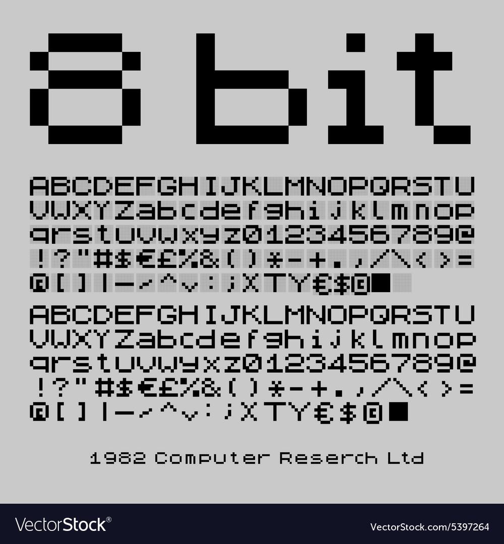 8 bit font