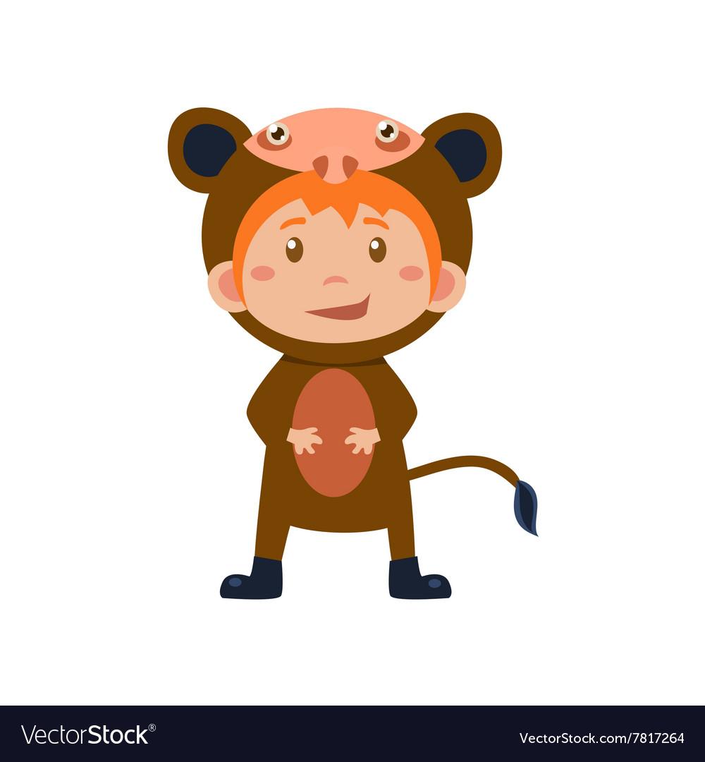 Child Wearing Costume of Monkey