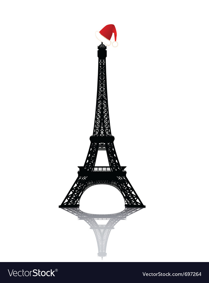 Eiffel Tower Pictures Christmas on Christmas Eiffel Tower Vector 697264 By Mayboro