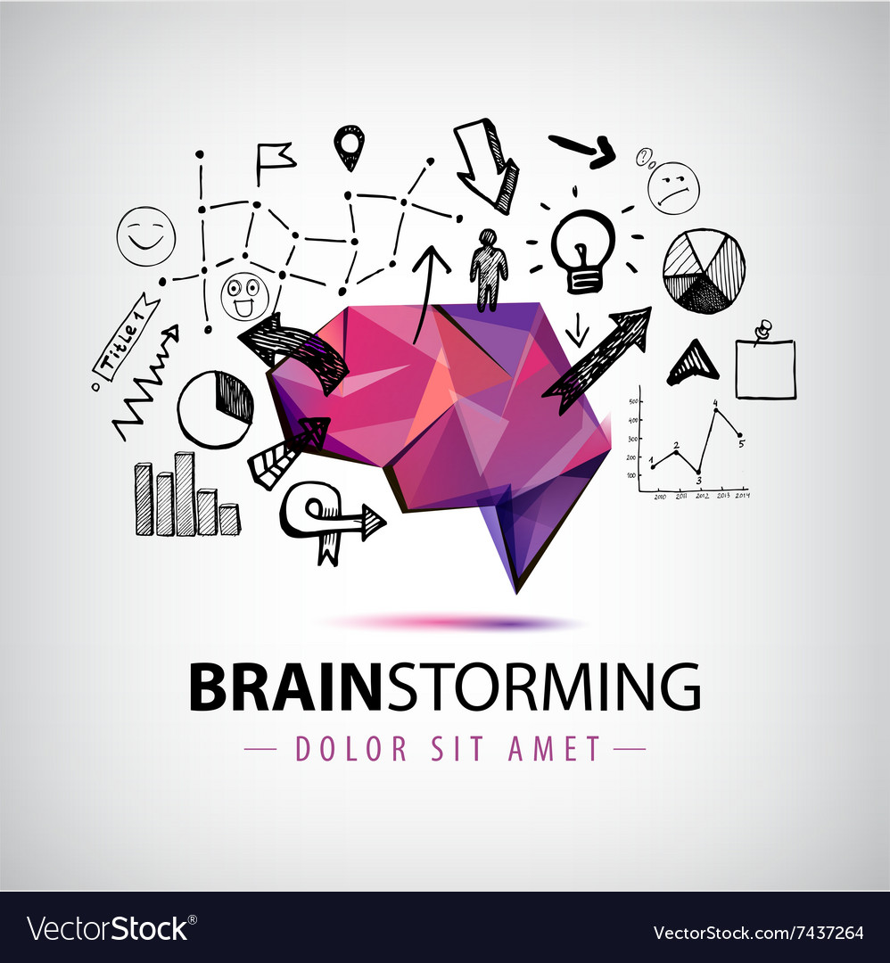 Creative logo brainstorm creating new