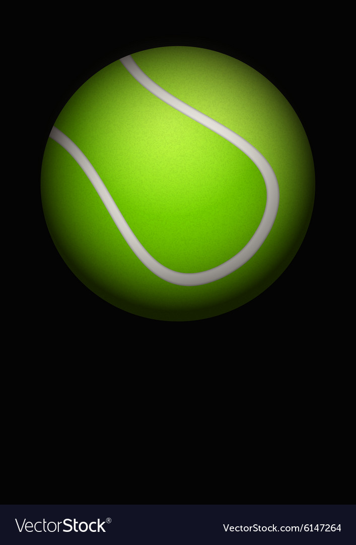 Dark Background Of Tennis Ball Royalty Free Vector Image