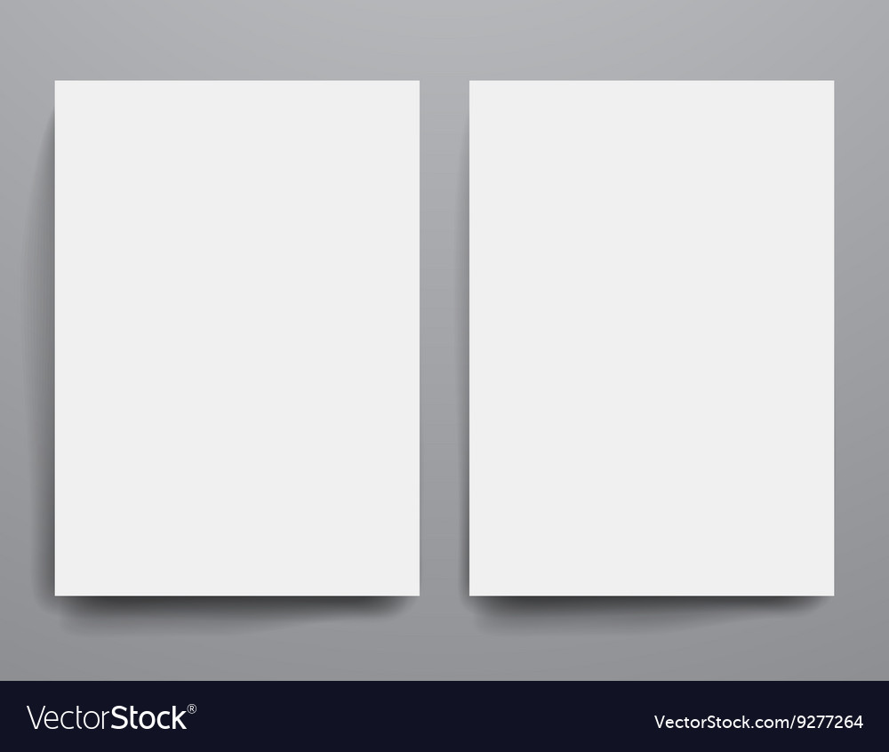 design template empty brochures shadow in vector image