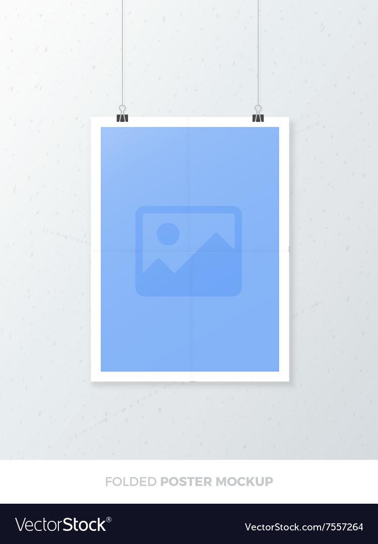 Folded Poster Mockup