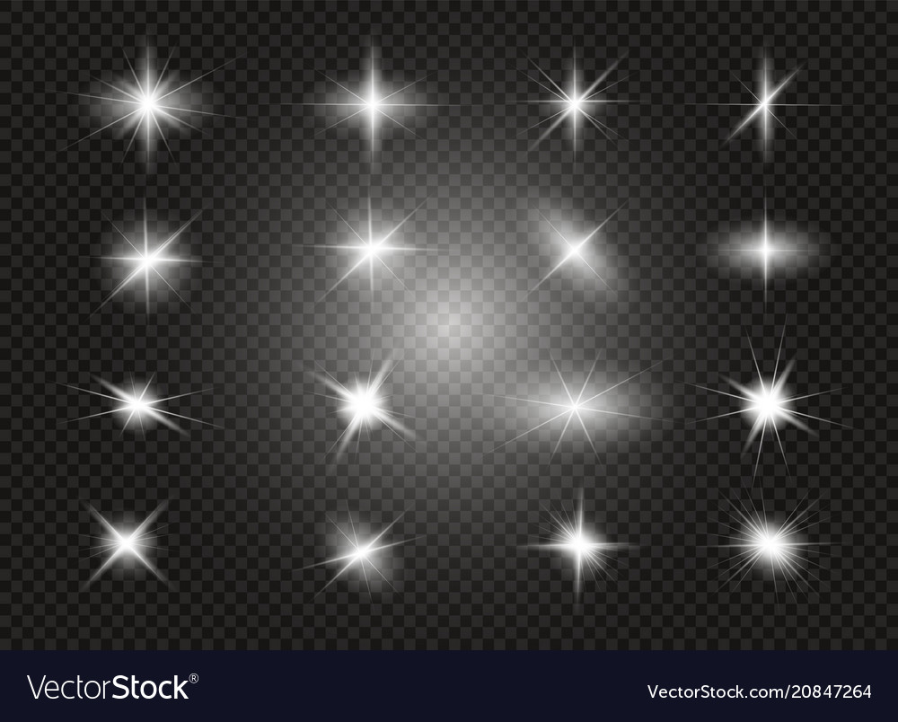 Glow light effect star burst with sparkles