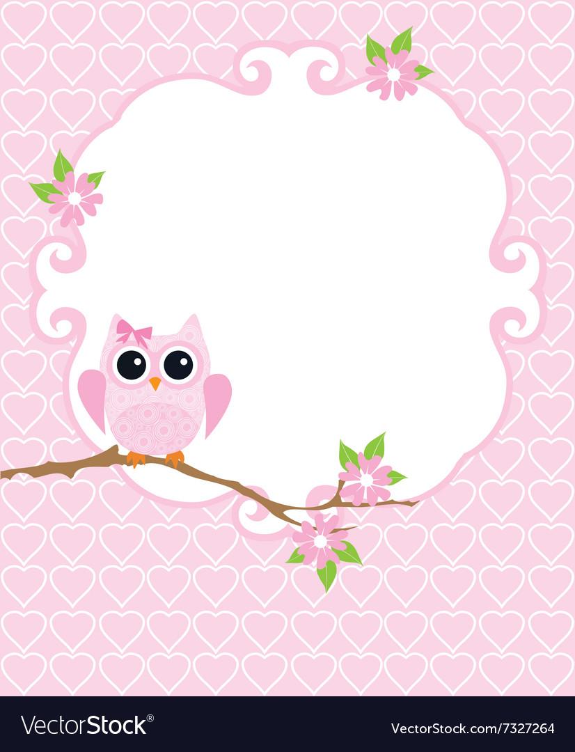 Invitation card owl royalty free vector image vectorstock invitation card owl vector image stopboris Choice Image