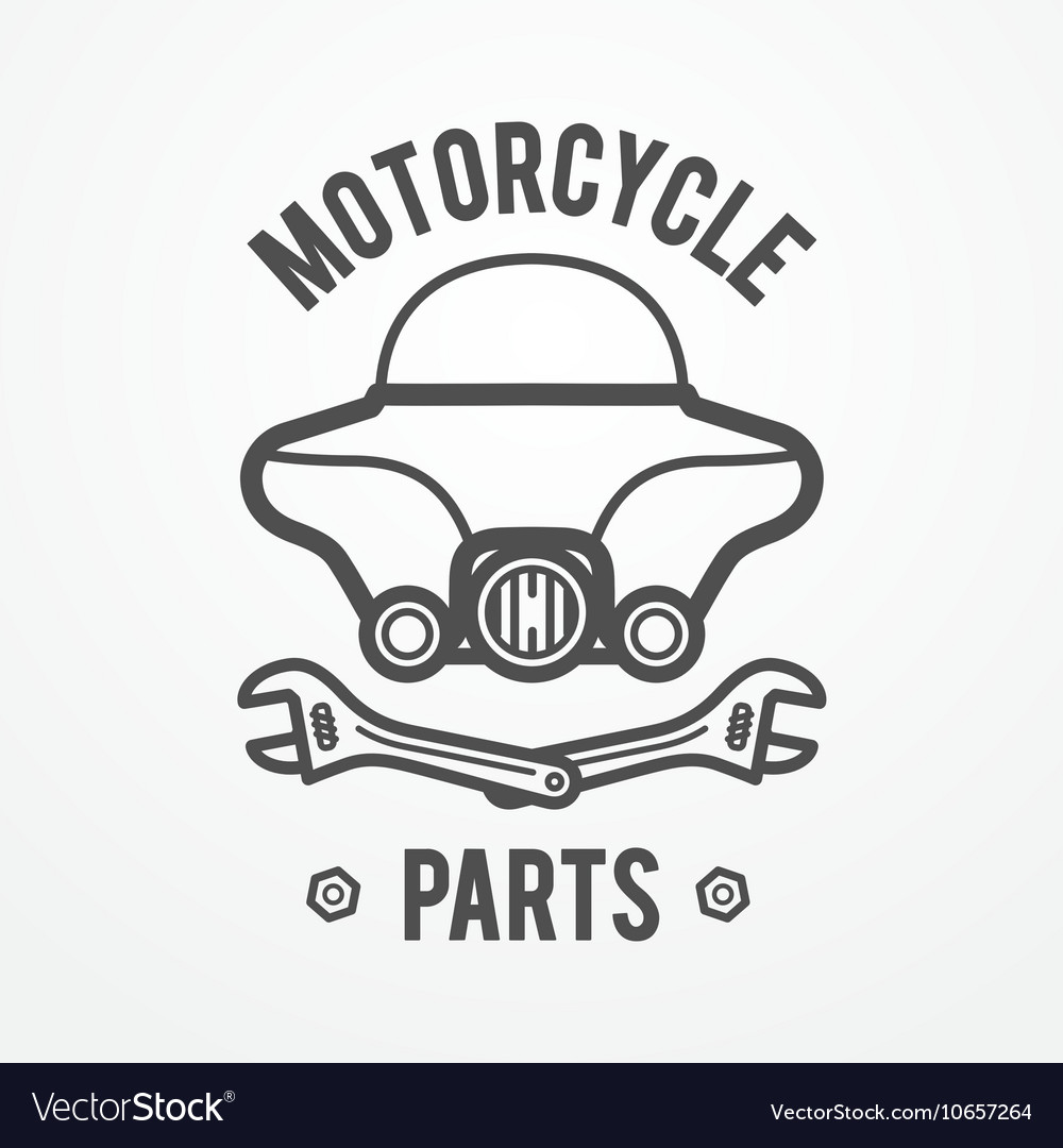 Motorcycle Store Logo Royalty Free Vector Image